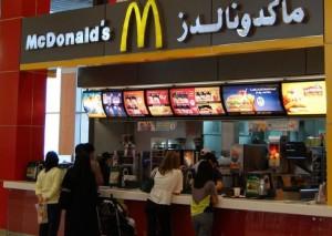 Пункты быстрого питания в Дубае.