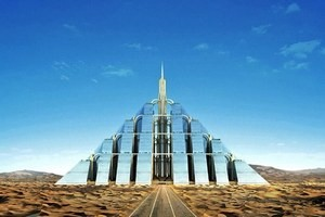 Пирамида Зиккурат в Дубае.